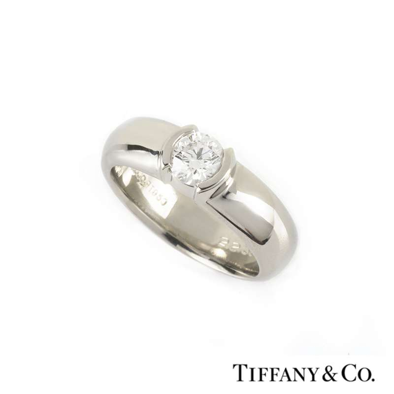 Tiffany & Co. Diamond Etoile Ring in Platinum 0.50ct G/VS1